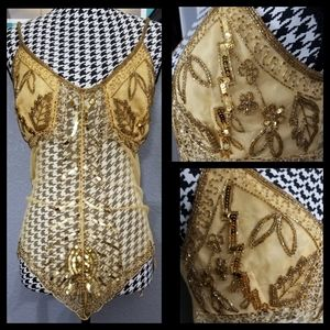 Gorgeous VTG Beaded Top